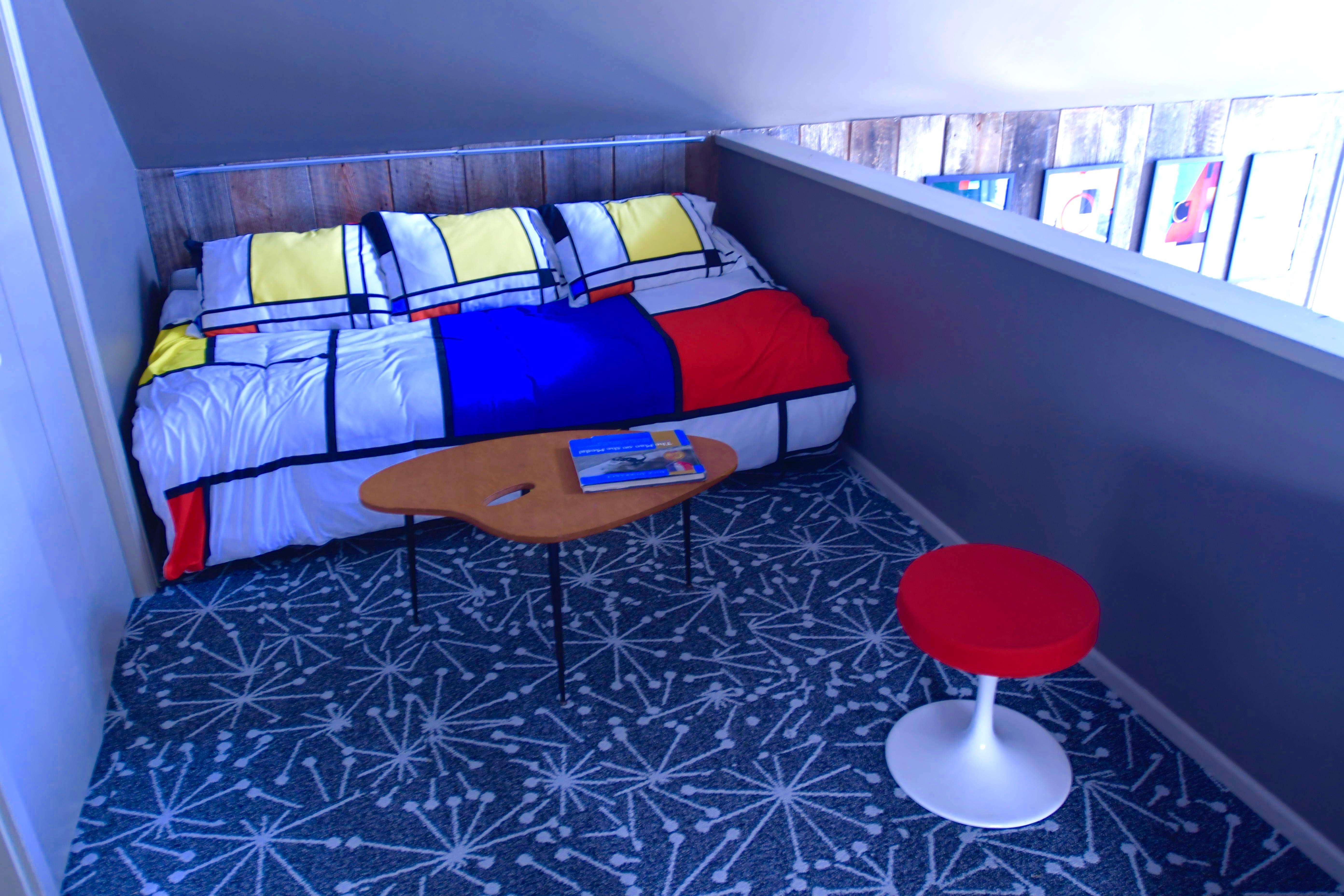 Twin bed in loft bedroom