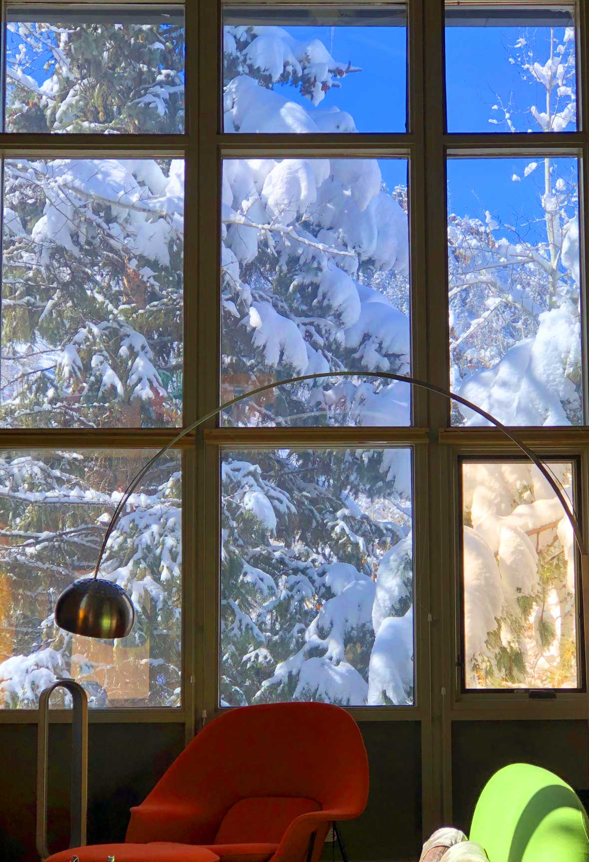 Winter view from West window wall